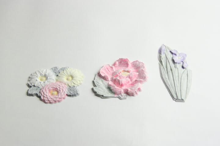 花カード(color):本物の和菓子のような雰囲気のカード。贈り物に最適です