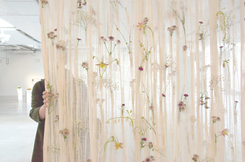 花のカーテン