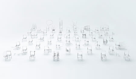 50 manga chairs for Friedman Benda gallery 2016