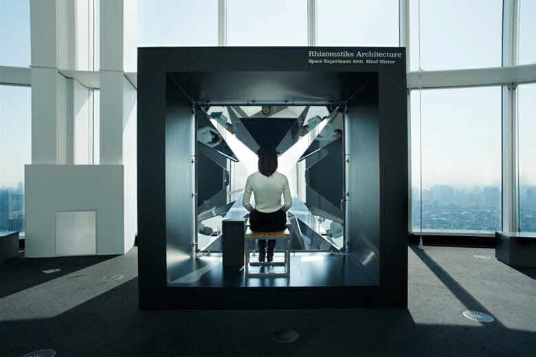 「MEDIA AMBITION TOKYO」に出展された「SPACE EXPERIMENT #001」 Photo: YAMAGUCHI KENICHI (RRD)