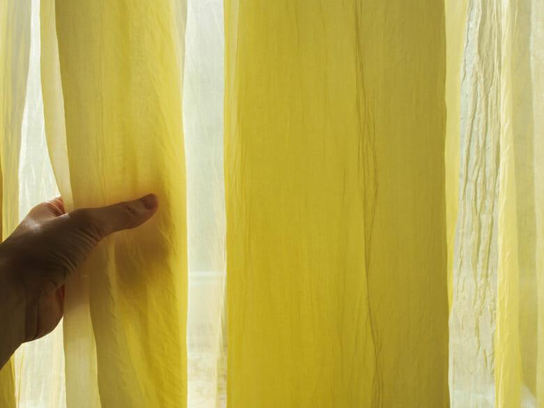黄色いシルクのカーテン (4)