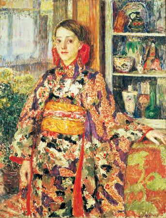 児島虎次郎《和服を着たベルギーの少女》1911年 / 116.0 × 89.0 cm / 油彩・カンヴァス