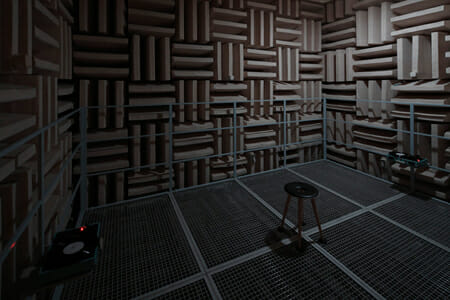 《Filament at anechoic room》2015年  撮影:木奥恵三