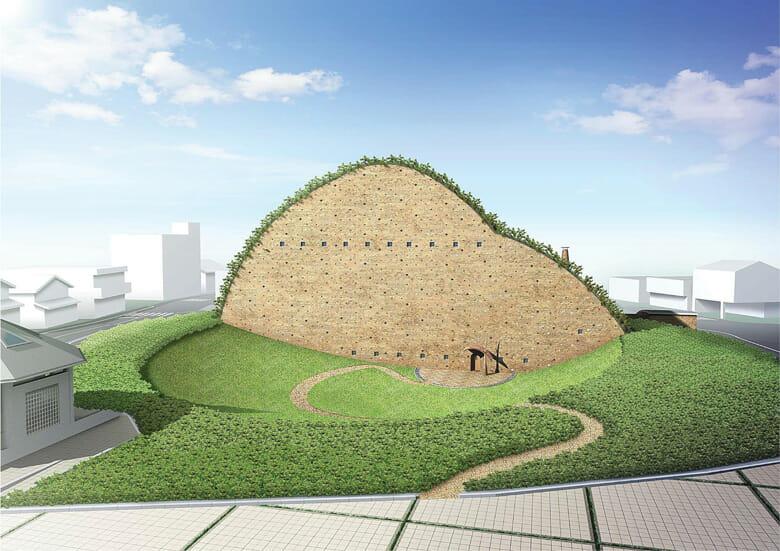 多治見市モザイクタイルミュージアムのパース図