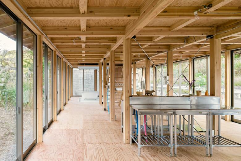 house T / salon T ファッションデザイナーの4人家族のための,、新築住宅 兼 多目的サロンの計画