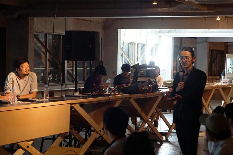 トークゲストの藤村龍至さん(RFA)から質問が飛ぶ一幕も