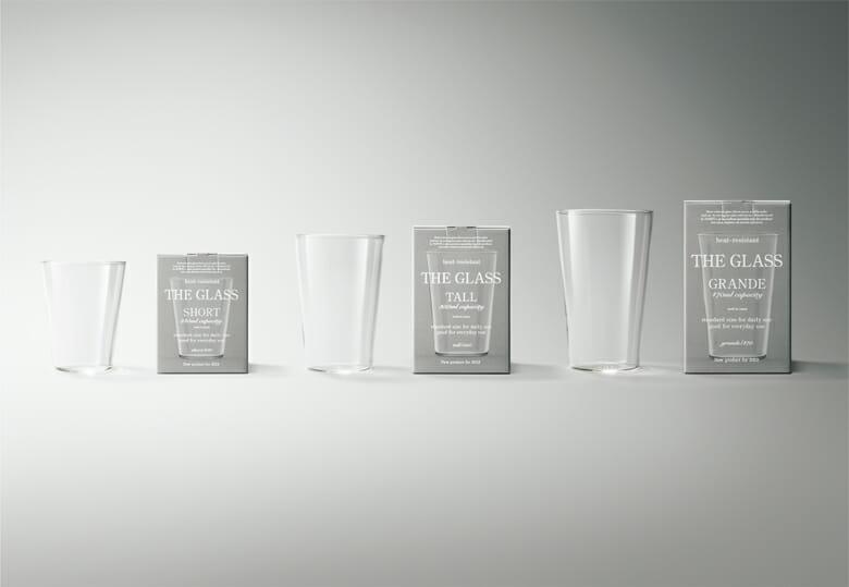 「THE GLASS」。世界中の誰もが容量を頭に描きやすいグラス(ショート・トール・グランデ)