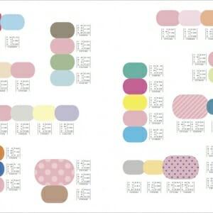 ピンクのかわいい配色パターン (4)