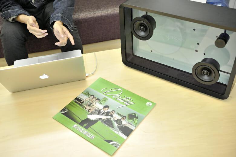 斉藤さんがリーダーを務める、JINTANA&EMERALDSのファーストアルバム『Destiny』のアナログ盤(編集部私物)