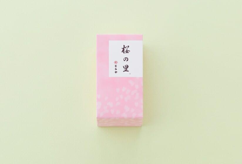 とらや季節の羊羹「桜の里」 (1)
