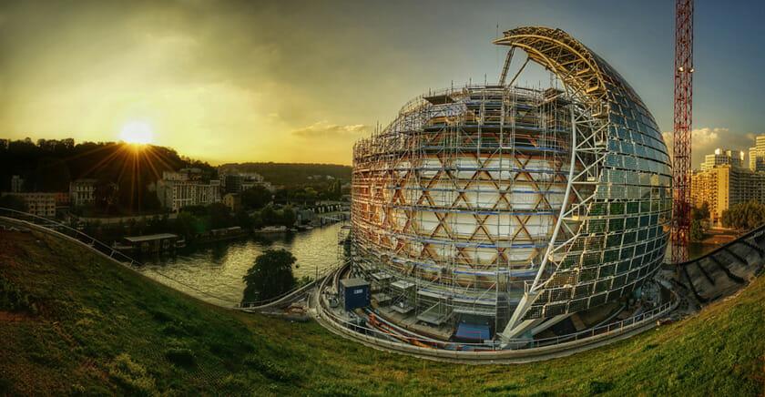 ラ・セーヌ・ミュジカル(フランス、パリ近郊/2017)設計:Shigeru Ban Architects Europe ©Nicolas Grosmond