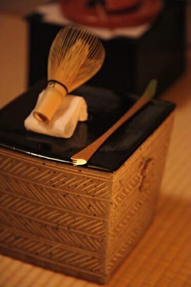 茶杓「火または炎」、「風または流れ」