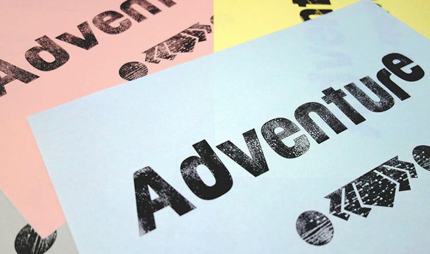 紙活字®を使って印刷した例(写真提供:Papertype)