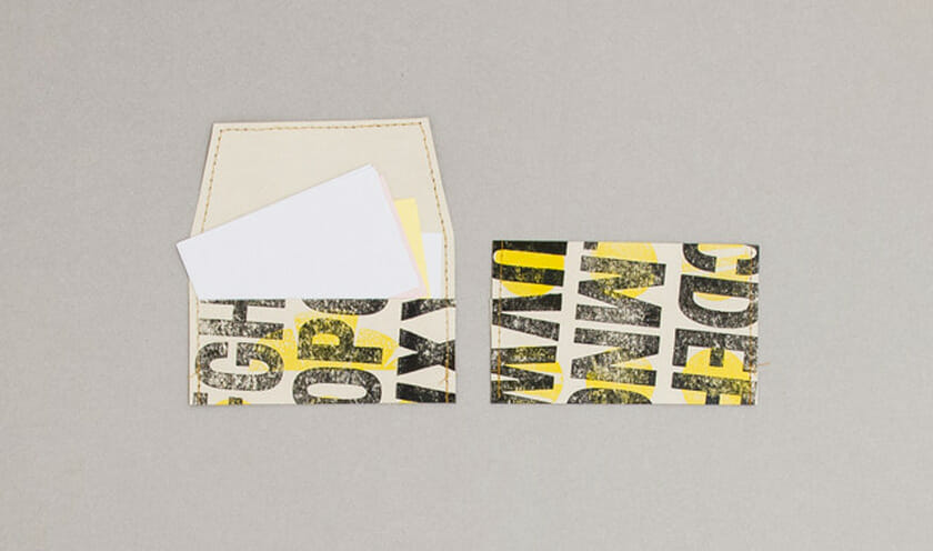 和田さんが制作したカードケース