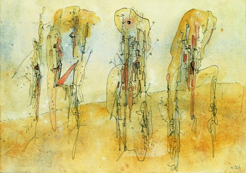 ヴォルス《無題》 1942/43年 グアッシュ、インク、紙 14.0×20.0cm DIC川村記念美術館