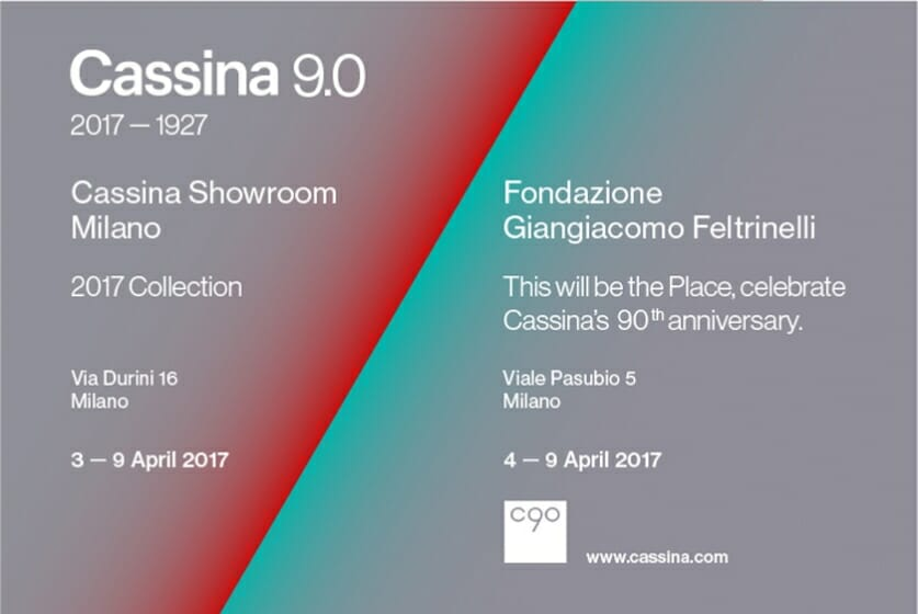 "Cassina 90th Anniversary Exhibition""This will be the Place."""