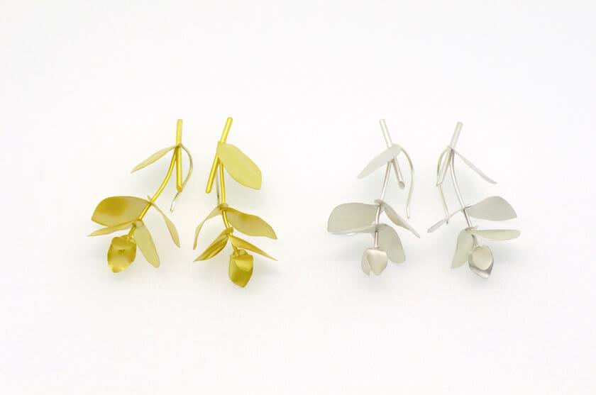Eucalyptus EARRINGS-small symmetry