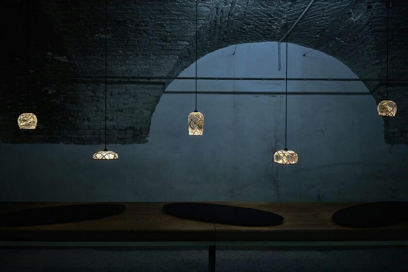 月灯/竹工芸を利用してつくられたLED照明