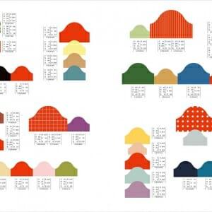 和のかわいい配色パターン (2)