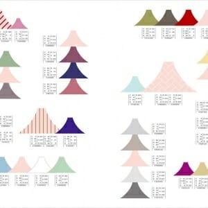 和のかわいい配色パターン (4)