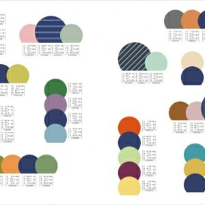 和のかわいい配色パターン (6)