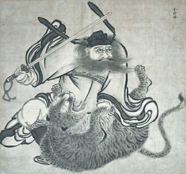 鍾馗図(しょうきず) 一幅 個人蔵 展示:8/22~9/3