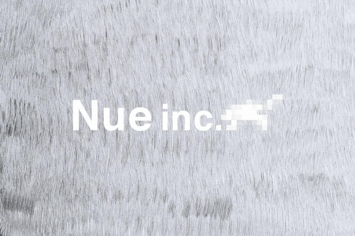 「Nue inc.」のロゴ。デザインを担当したのは「OUWN」の石黒篤史さん