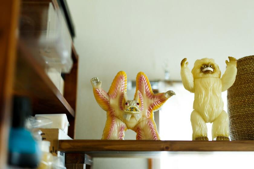 工房にいた怪獣たち