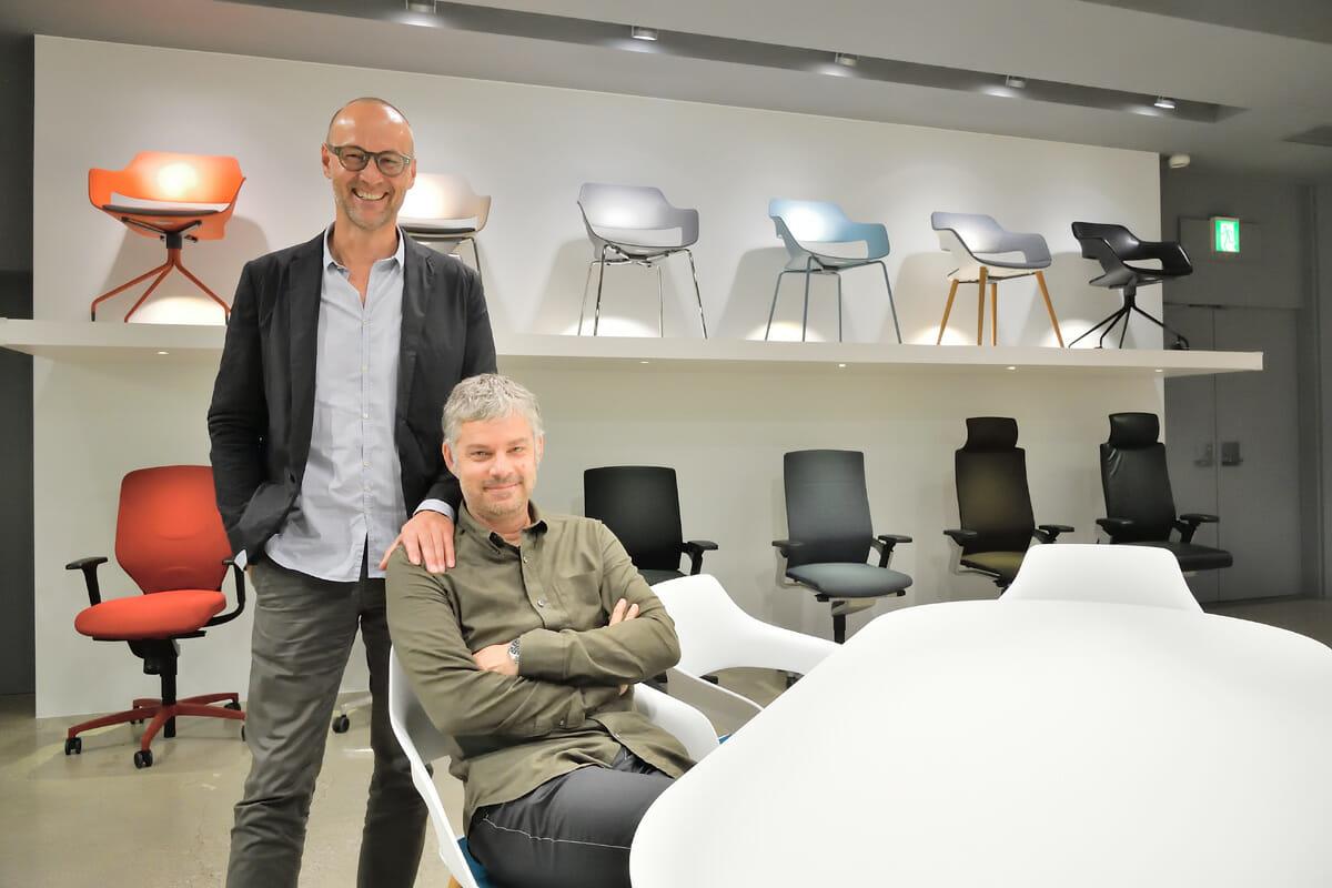 jehs+laub (イェス アンド ラウブ) マルクス・イェス(1965年シュトゥットゥガルト生まれ)とユルゲン・ラウブ(1964年ウルム生まれ) によるデザインデュオ。シェヴェビッシュ・グムンド造形大学でともに学んだ後、1994年にスタジオ設立。以後、シュトゥットゥガルトを拠点に活動する。数多くの有名プロダクトメーカーへのデザイン提供を行うと同時に、メルセデス・ベンツショールームのコンセプト設計、スウェーデン「アイスホテル」スイートルーム内装など、空間デザインの分野においても才能を発揮している。