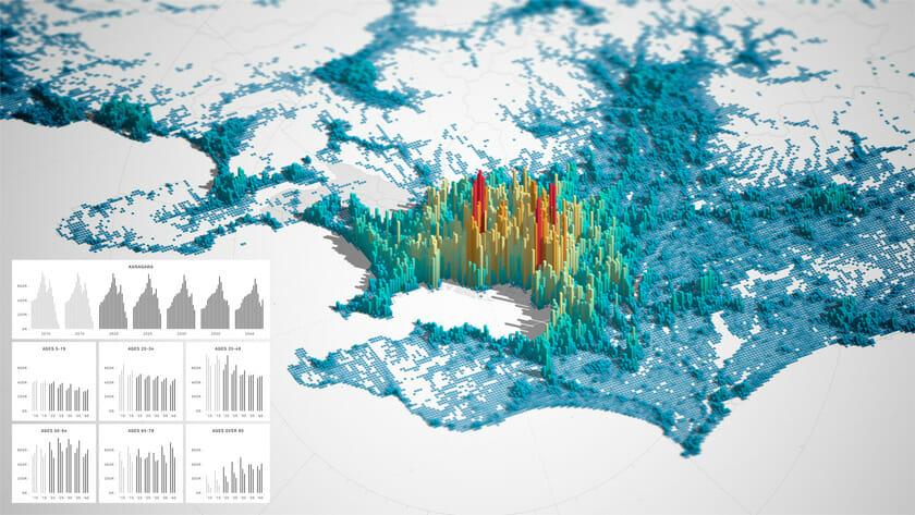 【Planck】 ウェブ上で動作する地理に紐付いた大規模なデータの視覚化