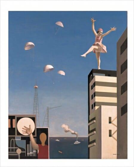 古賀春江 《窓外の化粧》 1930 年 神奈川県立近代美術館蔵