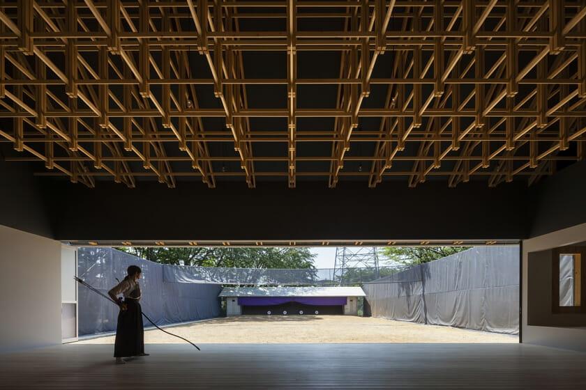 木の構築 工学院大学弓道場・ボクシング場 (1)