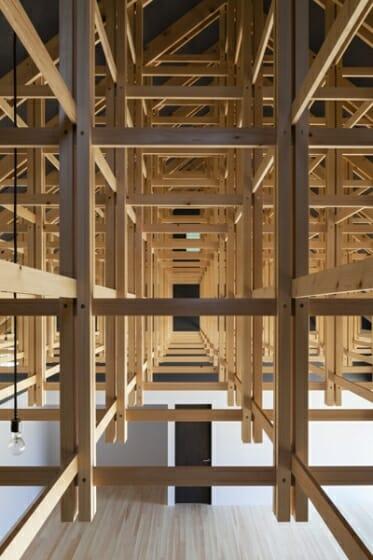 木の構築 工学院大学弓道場・ボクシング場 (2)