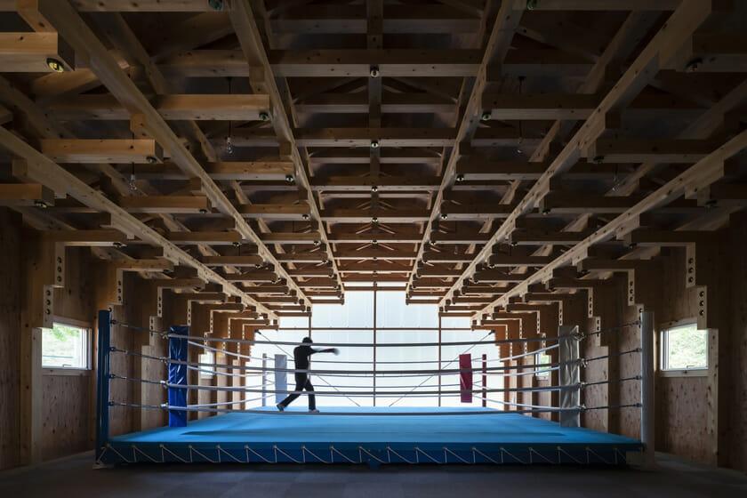 木の構築 工学院大学弓道場・ボクシング場 (5)