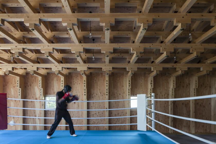 木の構築 工学院大学弓道場・ボクシング場 (6)