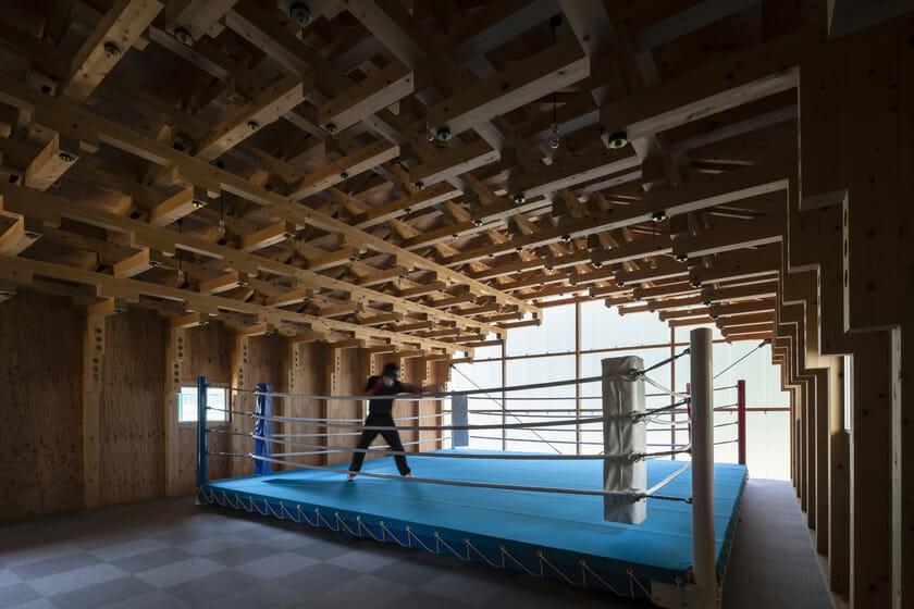 木の構築 工学院大学弓道場・ボクシング場 (7)