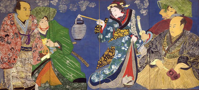 ⑦片岡球子《面構 歌川国貞と四世鶴屋南北》1982年_東京国立近代美術館