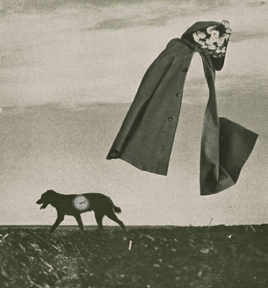 《はるかな旅》1953年 紙、コラージュ © Okanoue Toshiko, A Long Journey 高知県立美術館所蔵