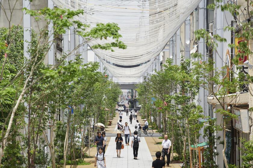 福山市アーケード改修プロジェクト「とおり町Street Garden」