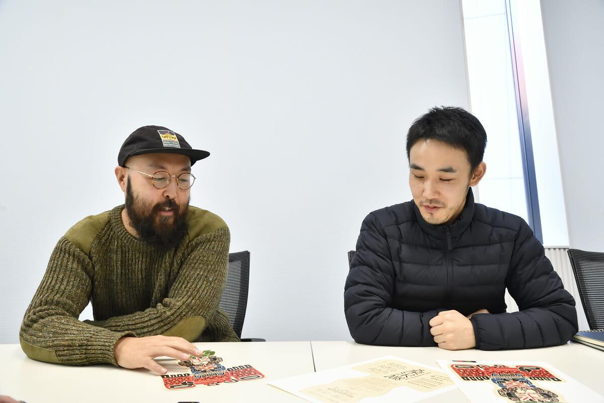 加瀬透と片岡徹弥のインタビュー画像