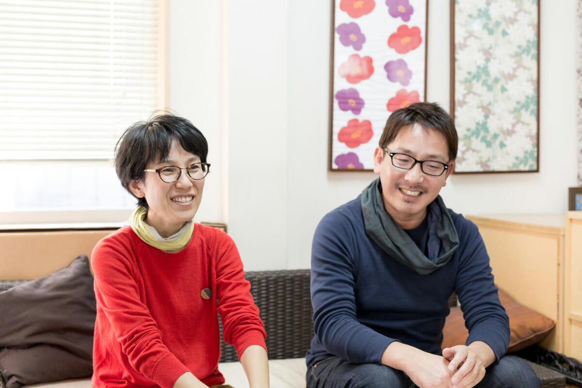 寺田尚志と神崎恵美子のインタビュー画像