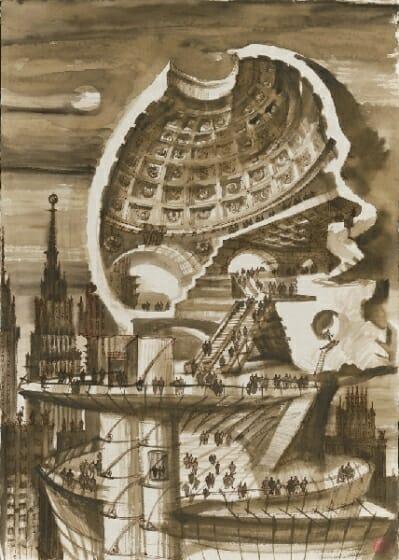 「記念碑へのエクスカーション」 人間国宝 第九代岩野市兵衛氏の越前生漉き奉書紙によるアートワーク