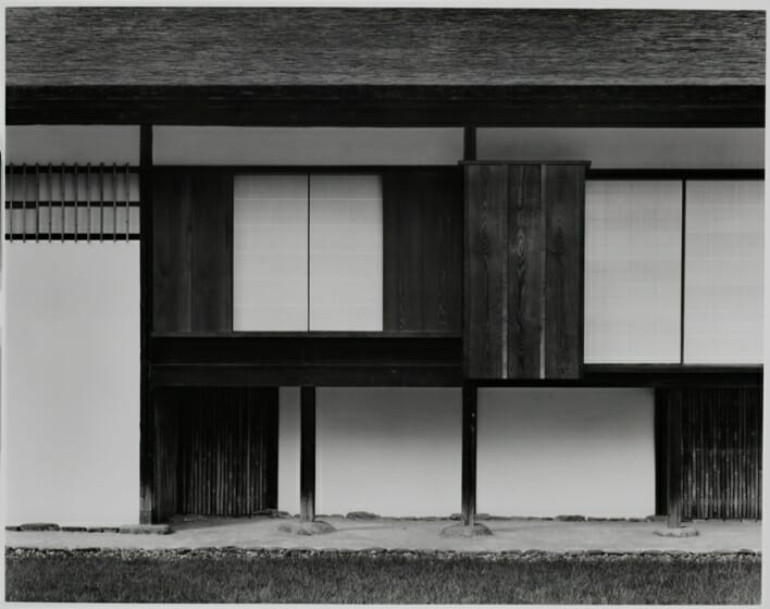 石元泰博《桂離宮 新御殿外観南面部分》1981, 82年 国際交流基金蔵©Kochi Prefecture, Ishimoto Yasuhiro Photo Center