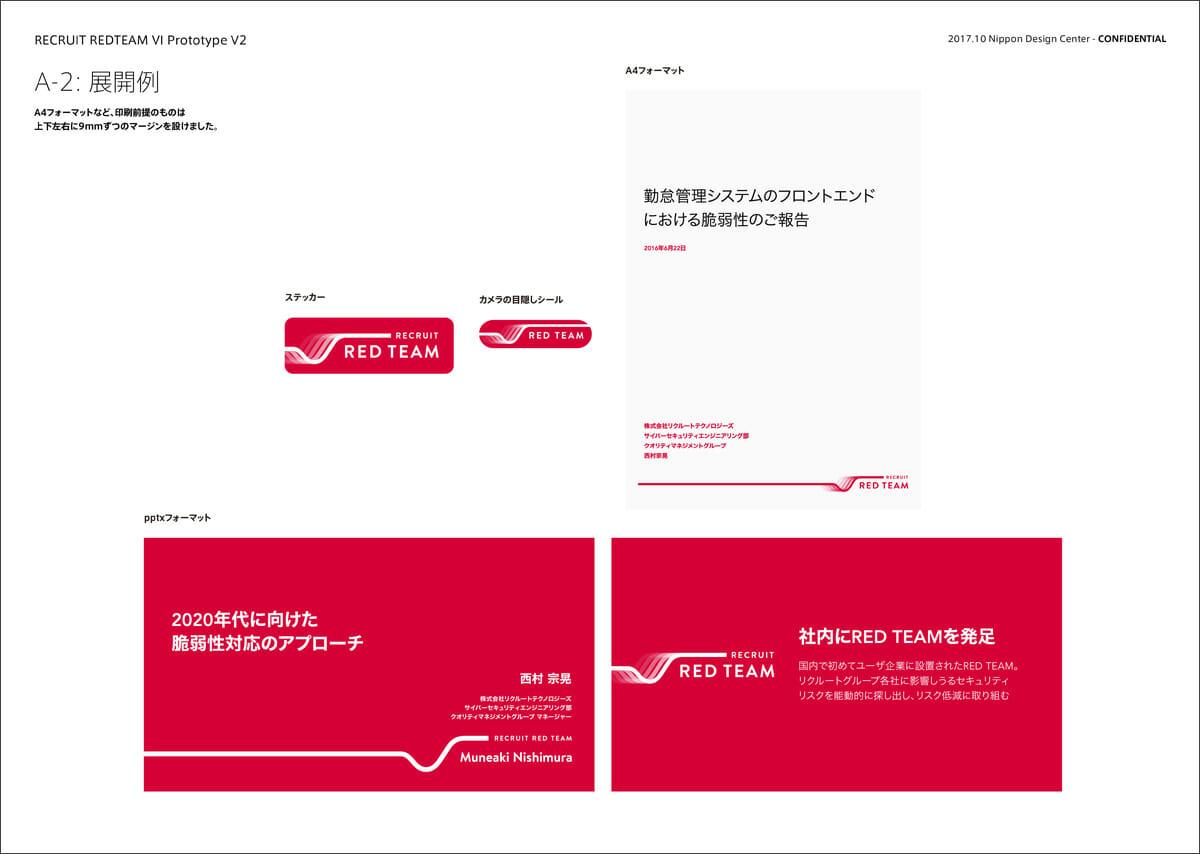 【提案例】A4フォーマット・ステッカー・pptxフォーマットなどの展開例