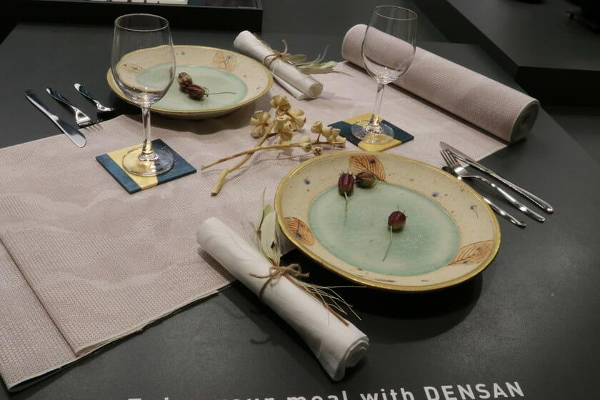 出展社の商材で構成したテーブルセッティング