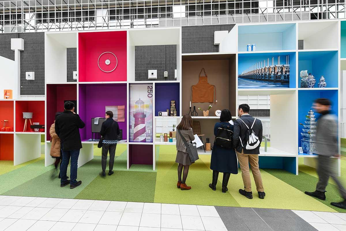 アンビエンテに花を添える企画「パートナー・カントリー」、2018年はオランダが選出され、その展示がtrendsの向かいで行われた、Messe Frankfurt Exhibition GmbH / Pietro Sutera