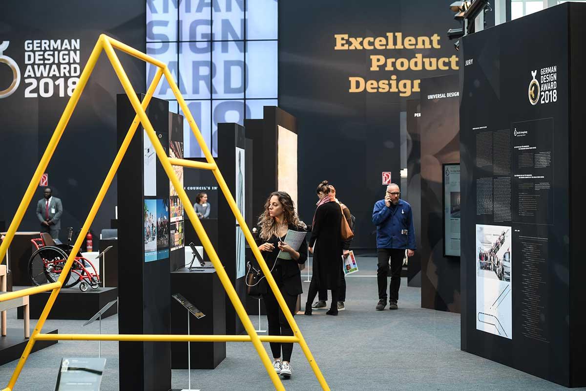 ジャーマンデザインアワードの展示や表彰もアンビエンテで行われる、trendsやパートナー・カントリーと同じガレリア会場、Messe Frankfurt Exhibition GmbH / Pietro Sutera