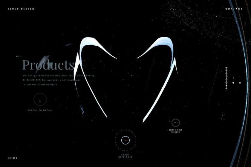 「BLUES DESIGN」コーポレートサイト (1)