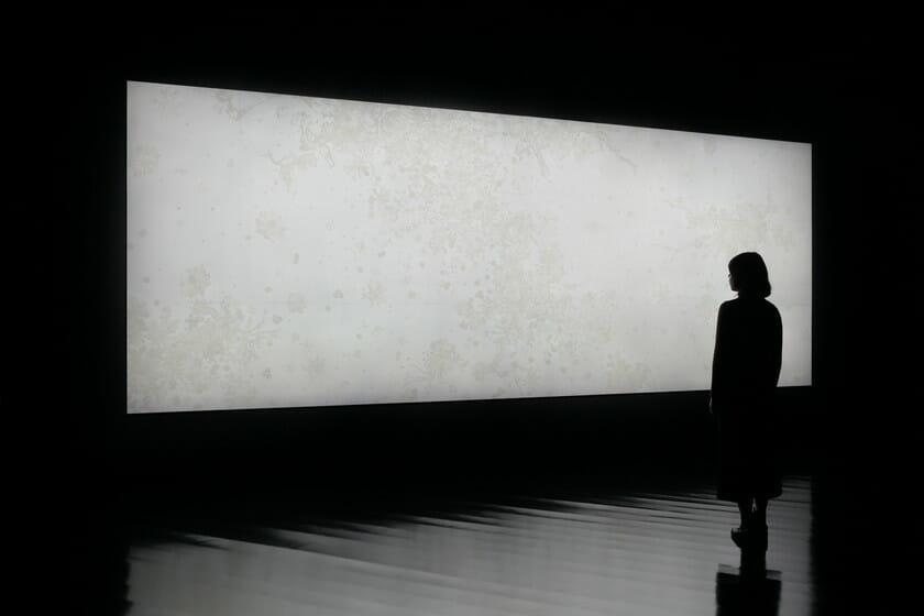 大巻伸嗣 Echoes-Crystallization -ひかりの風景 ちの記憶- 2018年 @Shinji Ohmaki Studio 撮影:椎木静寧