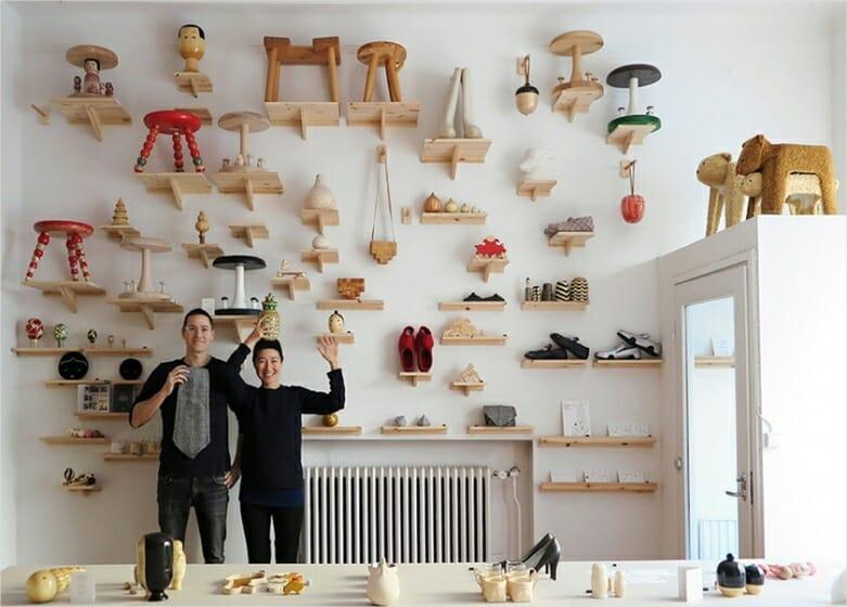 フィンランドのデザインスタジオの様子(左)ヨハン・オリンと(右)アーム・ソン 2016年